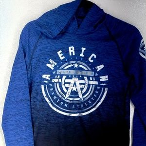 NWT AMERICAN FIGHTER HOODIE WITH ARM PATCH